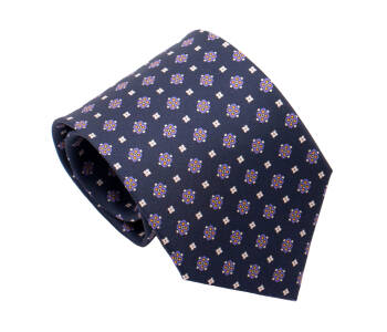 PATINE Tie Printed Silk Square 2 Bleu Petrole-1