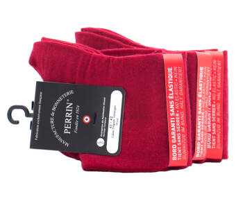 PERRIN Men No Elastic Socks 456 Rouge