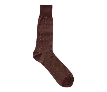 VICCEL Socks Brown Beige Pindot