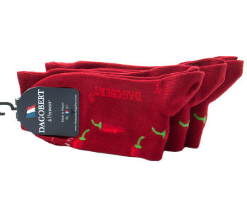 DAGOBERT Men Socks PIMENT Cerise