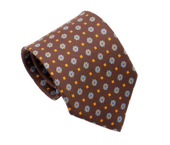 PATINE Tie Printed Silk Square 2 Marron