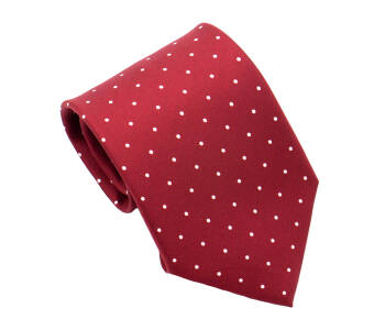 PATINE Tie Printed Silk POLKA-DOT Rouge