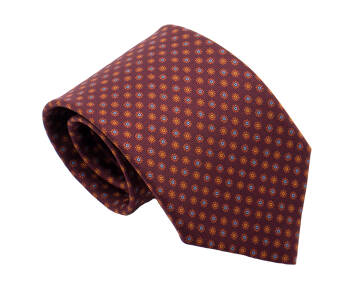 PATINE Tie Printed Silk Floral 2 Marron