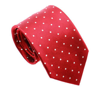PATINE Tie 18 POLKA-DOT Rouge
