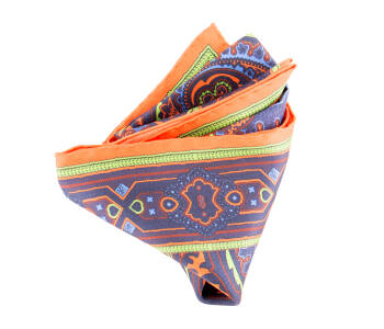 Pocket Square Twill PAT13984 Orange