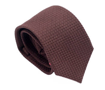 PATINE Tie Grenadine Grossa Marron 04
