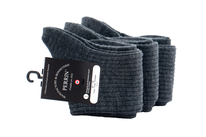 PERRIN Men Socks 477 Anthracite