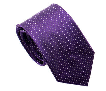 PATINE Tie 17 small POLKA-DOT Lavande