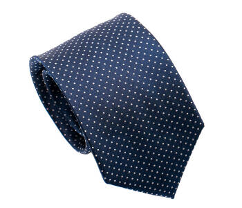 PATINE Tie 17 small POLKA-DOT Bleu Marine