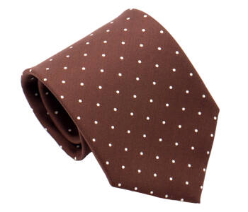 PATINE Tie Printed Silk POLKA-DOT Marron