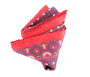 Pocket Square Twill PAT22639 Mad Red