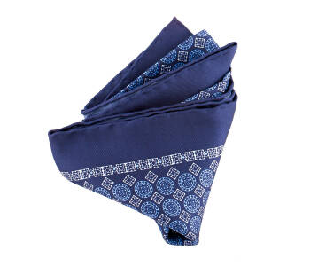 Pocket Square Twill PAT14554 Kings Navy