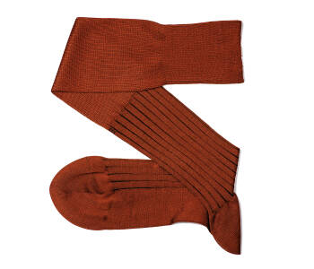 VICCEL Knee Socks Shadow Stripe Taba Brown